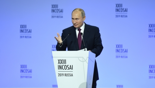 Vladimir Putin delivered a speech at the INTOSAI Congress